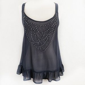 Pins and Needles UO Racerback Adorned Lingerie Top